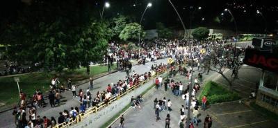 Reportan congestión vehicular por la 'marcha de las antorchas' en Bucaramanga