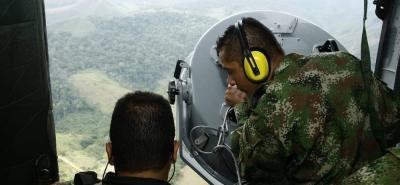 La Policía y las Fuerzas Militares continúan con las labores de búsqueda de los secuestrados en la zona del Catatumbo.