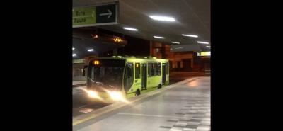 La ruta P3, en sentido norte - sur, sí está haciendo la respectiva parada en la Estación Cañaveral.