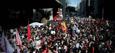 Cientos de mujeres se tomaron de nuevo las calles de Brasil en contra de Bolsonaro