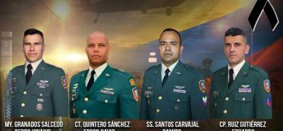 Uno de los militares fallecidos en extraño accidente de helicóptero era santandereano