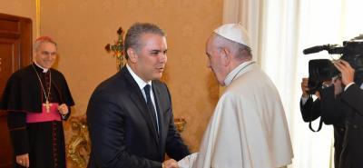 El Papa se reunió con Iván Duque y le dio su respaldo en temas claves