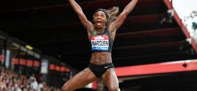 La atleta colombiana Caterine Ibargüen Mena, es una de las candidatas a atleta del año de la Federación Internacional del deporte base