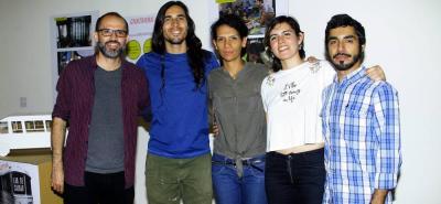 Frank Rodríguez, Johnatan Blanco, Estella Echavez, Daniela Gómez y Néstor Platarrueda.