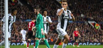 Un gol del argentino Paulo Dybala, tras un jugada de Cristiano Ronaldo en la que participó el colombiano Juan Guillermo Cuadrado, le dio el triunfo a Juventus sobre Manchester United en condición de visitante, ratificando al once italiano como líder de su grupo.
