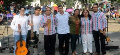 Juan Pablo Moreno, Miguel Lizcano, Hirdanti Díaz, Julián Afanador, Danna Díaz, Ana María Romero y Fabián Ortiz.