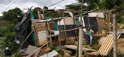 Así están los ranchos que fueron afectados por los deslizamientos de tierra.
