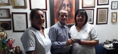 Fanny González González, Clemente Galvis Acuña y Yolanda González.