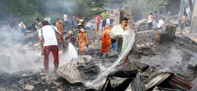 Incendio provocado acabó  con más de 30 viviendas en Bucaramanga
