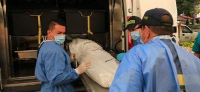 El cuerpo de Aracely Delgado, de 84 años, ayer permanecía en la morgue de Medicina Legal.