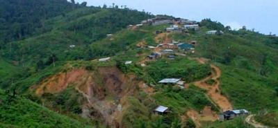 El accidente se registro en las montañas del sur de Bolívar, en jurisdicción de Santa Rosa del sur.