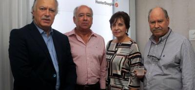 Felipe Segura, Jorge Dangond, Clara Inés Acevedo y Rodrigo Fernández.