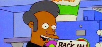Tras polémica racial el personaje Apu no aparecería más en Los Simpson