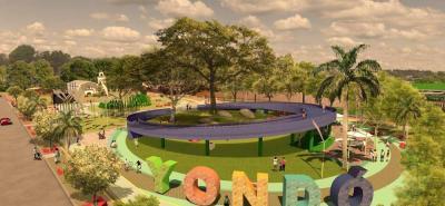 Así quedará remodelado el parque de los yondosinos según los diseños que maneja la Administración Municipal.