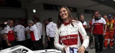 El éxito marcó la prueba de Tatiana Calderón en la F-1