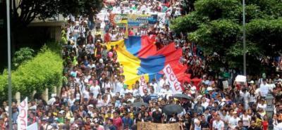 Esta es la tercera movilización por la defensa de la educación pública que se realiza este mes en Bucaramanga.