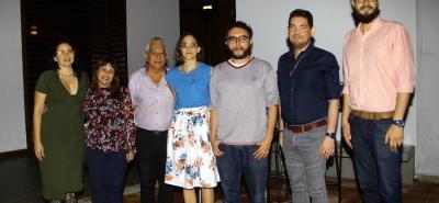 Yamile Manrrique, Sandra Cuesta, Carlos Prada Hernández, Camila Botero, Patrick Stemberg, Ciro Miguel Caballero y Julián Villamizar Rincón.