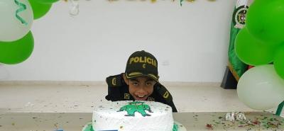 Niño de 15 años fue Policía por un día en Barbosa, Santander
