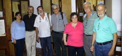 Clara Hernández, Luis Álvaro Mejía, Gabriel Latorre, Orlando Serrano, Margarita Becerra, Néstor Cáceres y Yorguín Maure.