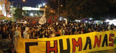 Esta fue la tercera movilización por la defensa de la educación pública en Bucaramanga.