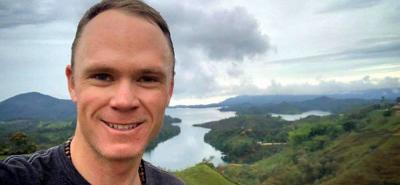 Con un jugo de lulo, Froome comenzó su día en Colombia