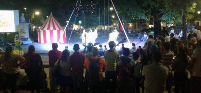 Las actividades teatrales en el marco de Sanfest han logrado hacer partícipes a los asistentes, quienes han asistido de manera concurrida a las obras realizadas.