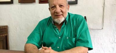 El presidente de la junta directiva de la Casa de la Cultura local, Pedro Manuel Pérez Villalba, habla del proyecto para inmortalizar la Constitución de la Provincia del Socorro.
