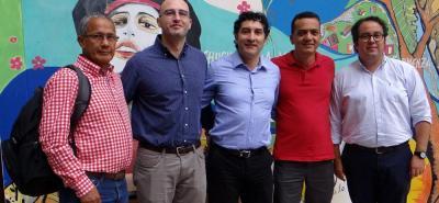 Rafael Téllez, José Manuel Cordero, Néstor Garza, Rafael Viana y Diego Silva.