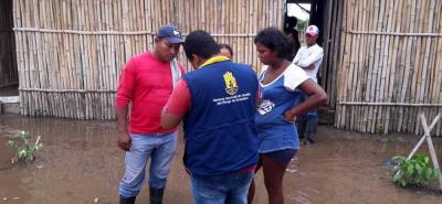 Hasta 50 centímetros alcanzó el nivel del agua en las viviendas ubicadas cerca a la ciénaga Yarirí.