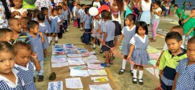 World Visión busca vincular a los niños desde tempranas edades en los temas de paz.