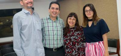 Julio Espinel, Javier Cote, Sandra Cuesta y Wendy Serrano.
