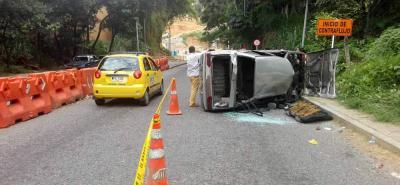 El accidente se registró en la Transversal Oriental, en cercanías a donde se construye el Intercambiador de Fátima.