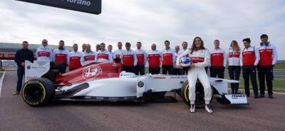 La piloto colombiana Tatiana Calderón cumplió con una buena actuación en su doble sesión de entrenamientos Fiorano, Italia, en donde marcó el octavo tiempo histórico de la pista.