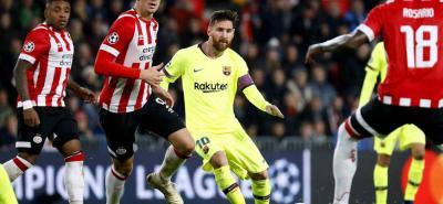 Lionel Messi una vez más tuvo una destacada presentación con el Barcelona, en esta ocasión en la Liga de Campeones, ante el PSV de Holanda.