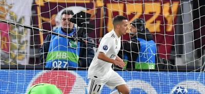Real Madrid le ganó a la Roma 2 a 0