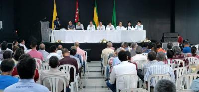 En Neomundo se realizó la audiencia informativa a la cual asistió la Anla, la Concesión Autovía, Gobernación y comunidad.
