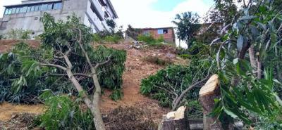 Autoridades evidenciaron actividades de limpieza en terreno no apto para construcción.