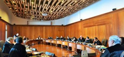 La delegada de la corporación, Margarita Cabello, consideró que debía hacerse a un lado en razón a las críticas que se hicieron sobre su escogencia por el hecho de ser magistrada de la Corte.