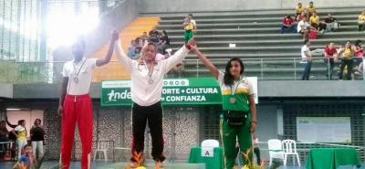 Greidy Estupiñán Pérez, luchadora olímpica.