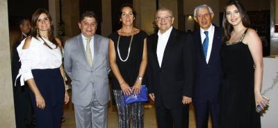Elizabeth Prada, Francisco Malo, Susy Levi, Virgilio Galvis, Héctor Cristancho y Lorena González.