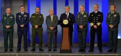 Iván Duque anunció cambio en la cúpula de las Fuerzas Militares