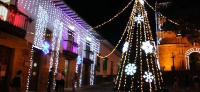 Foto de las celebraciones navideñas de 2017, organizadas por la Alcaldía de Barichara.