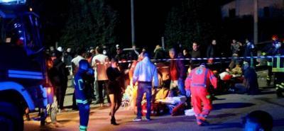 Seis muertos y varios heridos deja una estampida en un club nocturno en Italia