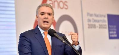 """No podemos dejarnos provocar por Venezuela"": Iván Duque"