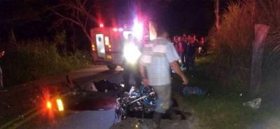Tres muertos en accidente de tránsito en vía a San Gil