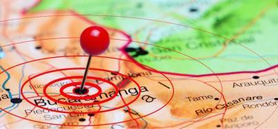 Sismo de 3,9 se sintió en Bucaramanga este lunes