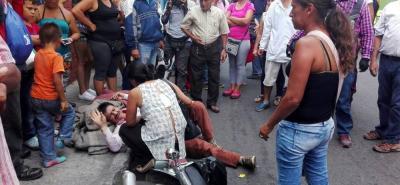 Dos personas se salvaron de ser aplastadas tras accidente en el centro de Bucaramanga