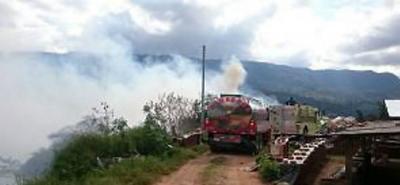 Bomberos controló un Incendio forestal en el sector de Curos