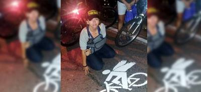 Imágenes del homenaje a ciclista que murió tras ser arrollado en Floridablanca