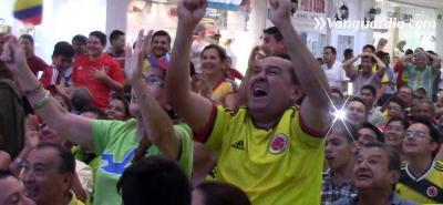Este fue el sufrimiento y gozo de los bumangueses con la Selección Colombia
